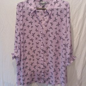 PLUS SIZE  CATHERINE'S SHEER BLOUSE.SIZE  3x-26/28